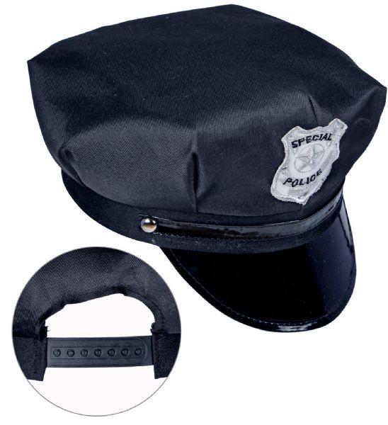 Adults Unisex Police Hat Adjustable Cops & Robbers Fancy Dress Hat